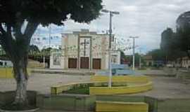 Palmeirândia - Praça e Igreja de Palmeirândia-MA-Foto:Marcos.Soares