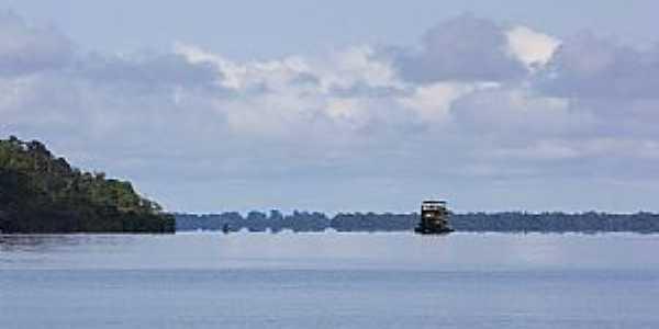 Novo Airão-AM-Barco no Rio Negro-Foto:Ricardo Hossoe