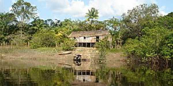 Novo Airão-AM-Casa ribeirinha-Foto:Eric Jain