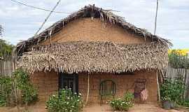 Peritoró - Peritoró-MA-Casa de Taipa no Povoado de Livramento-Foto:Hilton Franco