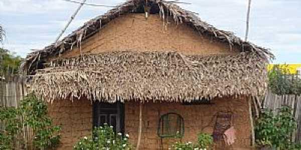 Peritoró-MA-Casa de Taipa no Povoado de Livramento-Foto:Hilton Franco
