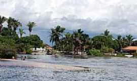Santo Amaro do Maranhão - Orla do Rio Grande em Santo Amaro do Maranhão-MA-Foto:José Edmundo Medeiro…