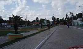 Santo Amaro do Maranhão - Praça e Rua Central em Santo Amaro do Maranhão-MA-Foto:José Edmundo Medeiro…