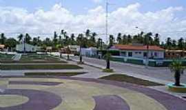 Santo Amaro do Maranhão - Praça em Santo Amaro do Maranhão-MA-Foto:moises veras