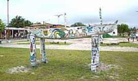 Santo Amaro do Maranhão - Praça principal de Santo Amaro do Maranhão-MA-Foto:Francisco Moisés - m…