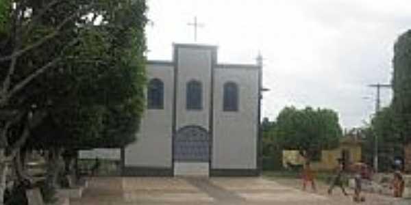 Igreja de N.Sra.dos Rem�dios em S�o Bento-MA-Foto:Marcos.Soares
