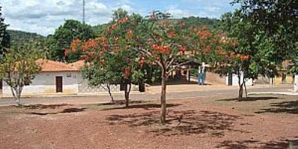 São Raimundo do Doca Bezerra-MA-Praça no centro do Povoado-Foto:Carlinhos