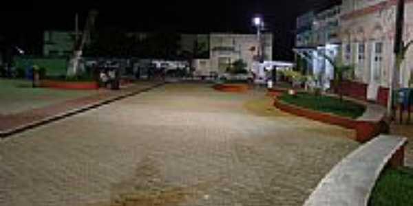 Anadia-AL, sua praça principal à noite por Walter Leite