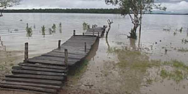 Serrano do Maranhão-MA-Plataforma de pesca no rio Portinho na comunidade de Portinho-Foto:Jonhson Meiro Rodrigues