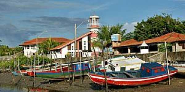 Tut�ia-MA-Barcos e o Farol da Cultura-Foto:Agamenon Pedrosa Ribeiro