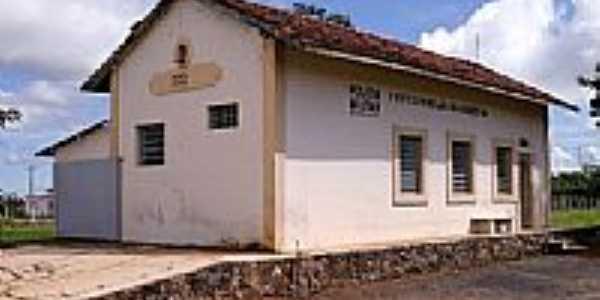 Amanhece-MG-Antiga Estação Ferroviária-Foto:www.estacoesferroviarias.com.br