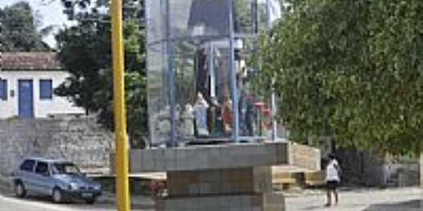 Monumento à Padre Cícero na Praça Central em ANEL-Foto:Fleury Barros