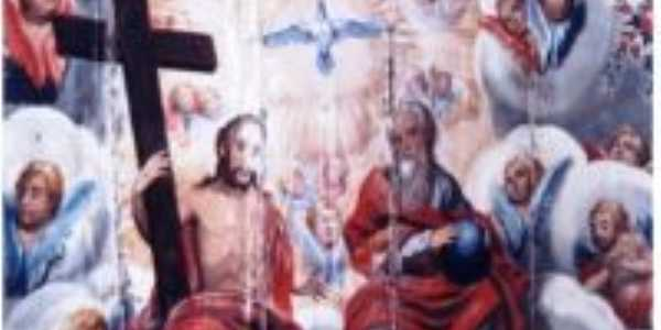 Detalhe da pintura do forro da Igreja de S. Miguel do Cajuru, Por José Antônio de Ávila Sacramento
