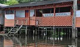 Tefé - Escola de uma das comunidades ribeirinhas na Reserva do Mamirauá em Tefé-AM-Foto:Rodrigo