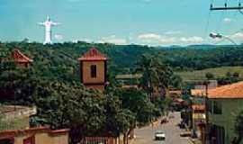 Baldim - Baldim-MG-Vista da Torre da Matriz e ao fundo o Cristo-Foto:Diogo Silva