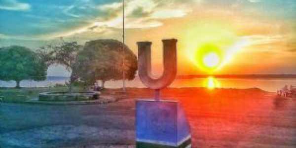 POR DO SOL AVENIDA ARCO- IRIS URUCURITUBA- AM - Imagem Francisco Carlos, Por FRANCISCO CARLOS