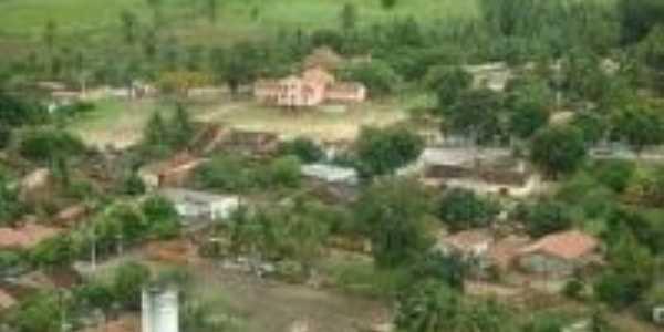 comunidade de BREJO DO AMPARO vista aérea em foco a IGREJA DE NOSSA SENHORA DO AMPARO., Por THIAGO PINHEIRO DE ARAUJO