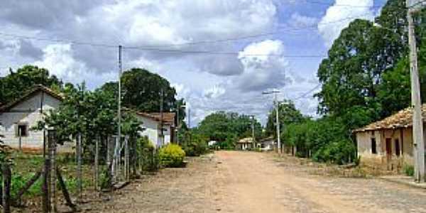 Caatinga-MG-Rua do distrito-Foto:Denis Conrado