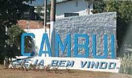 Cambuí - Entrada da cidade de Cambuí-MG-Foto:Salles