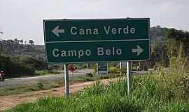 Cana Verde - Cana Verde-MG-Trevo de acesso na BR-354-Foto:Rog�rio Santos Pereira
