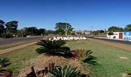 Capin�polis - Capin�polis-MG-Trevo de acesso-Foto:Carlos Alberto Alves