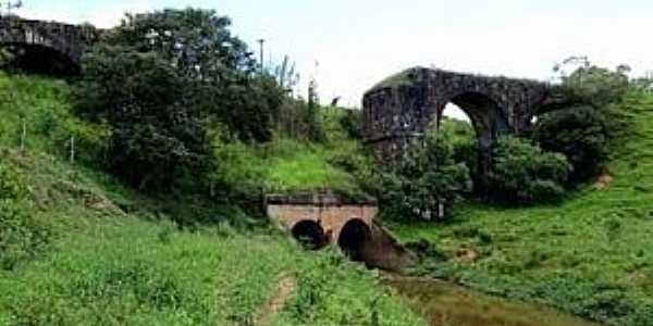 Carandaí-MG-Antigo Pontilhão sobre o Rio Carandaí-Foto:camaracarandai.mg.