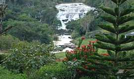 Carangola - Cachoeira no RIO CARANGOLA � margem da BR 482