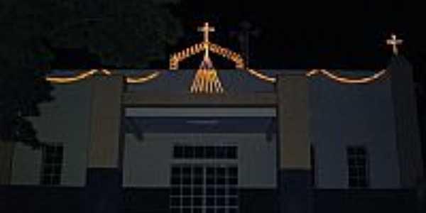 Igreja Matriz vista noturna-Foto:valcirvilela