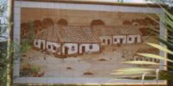 Ilustração da antiga Casa Grande, Por Clarisse Resende