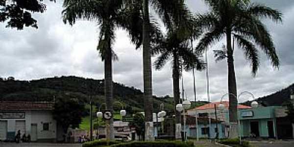 Conceição dos Ouros-MG-Coqueiros na rotatória-Foto:gogliardo72