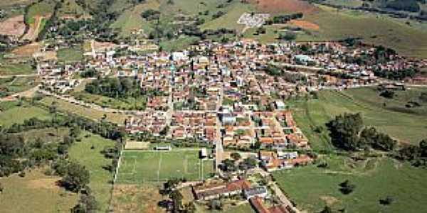 Córrego do Bom Jesus-MG-Vista aérea da cidade-Foto:serrasverdes.com.br