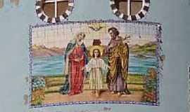 Córrego Novo - Painel da Igreja da Sagrada Família-Foto:salvereis [Panoramio]