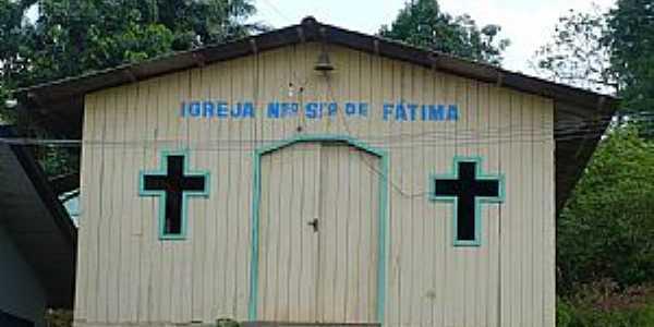 Laranjal do Jarí-AP-Igreja em Água Branca do Cajari,distrito de Laranjal-Foto:Heraldo Amoras