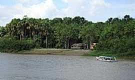 Mazagão - Mazagão-AP-Casa de ribeirinho no Rio Mazagão-Foto:Alan.Kardec