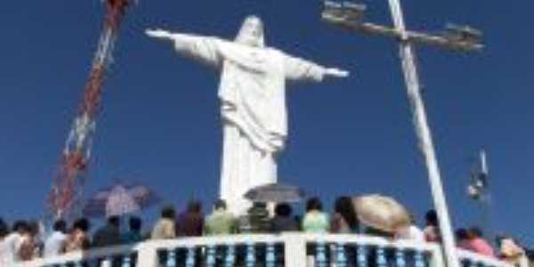 Cristo Redentor em Faria Lemos - MG, Por Rosangela Maria Soares Oliveira Silva