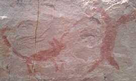 Florália - Florália-MG-Inscrições Rupestres no Sítio Arqueológico-Foto:geraldo atherrton
