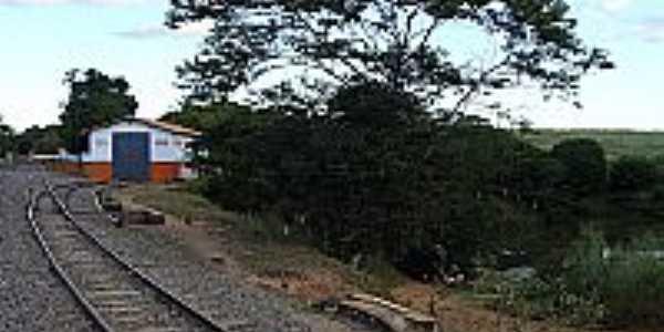 Glaucilândia-MG-Estação Ferroviária-Foto:fotospaisagensmg.