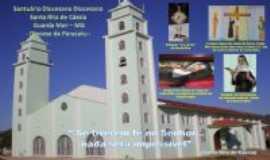 Guarda-Mor - Santuário Santa Rita onde se encontra a Relíquia da Santa e 2 imagens vindas de Cáscia/Italia, Por Antonio Eduardo de Oliveira
