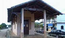 Hermilo Alves - Hermilo Alves-MG-Antiga Estação Ferroviária-Foto:Raymundo P Netto