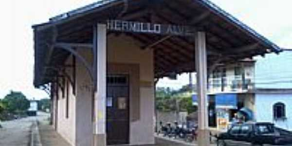 Hermilo Alves-MG-Antiga Estação Ferroviária-Foto:Raymundo P Netto