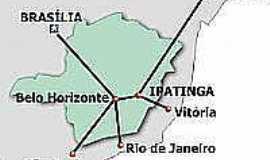 Ipatinga - Mapa de localização