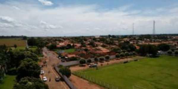 Vista aérea da entrada da cidade !, Por PAULO HERÕNCIO DA SILVA