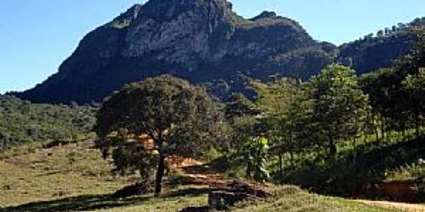 Próximo à entrada da cachoeira alta em Ipoema-MG - Por mourao5000
