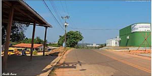 Vitória do Jarí-AP-Avenida Pedro Ladislau da Silveira-Foto:Heraldo Amoras
