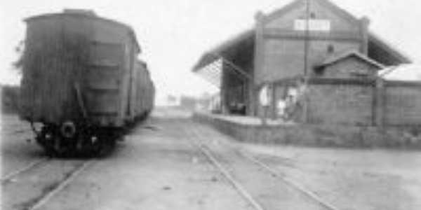 Estação do trem quando Itamogi se chamava Arari, Por Lucas
