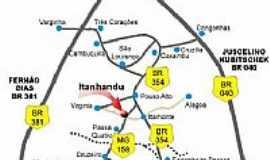 Itanhandu - Mapa