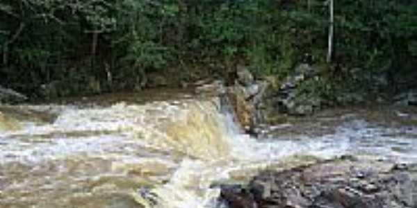 Itaúna-MG-Corredeira no rio São João-Foto:Délio de Lemos