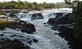 Ituiutaba - Cachoeira do Salto no Rio da Prata em Ituiutaba-MG-Foto:Leandro Anthon