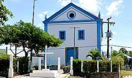 Abrantes - Abrantes-BA-Igreja do Divino Espírito Santo reformada-Foto:turismo.camacari.ba.gov.br