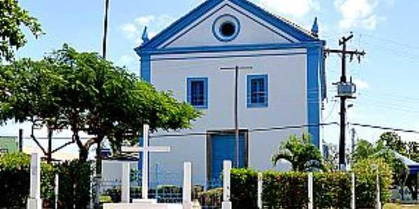 Abrantes-BA-Igreja do Divino Espírito Santo reformada-Foto:turismo.camacari.ba.gov.br